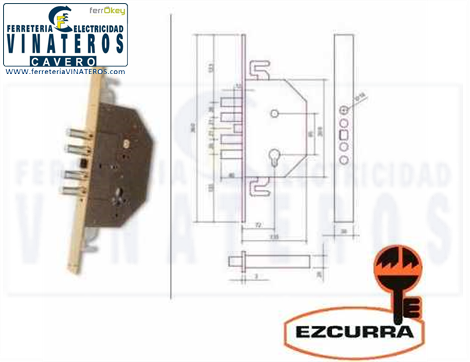 CERRADURA, EZCURRA, SEGURIDAD, 303 DS/15