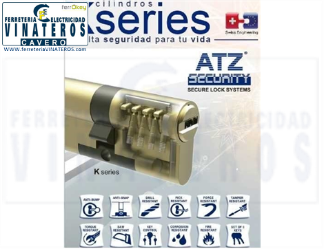 BOMBILLO - CILINDRO, ATZ SECURITY, SEGURIDAD LATON, 30+30 K SERIES