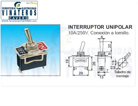 INTERRUPTOR, MINI, BOLA METAL, OFF/ON